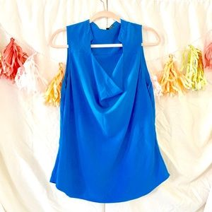Cynthia Steffe Sexy Blue Sleeveless Blouse
